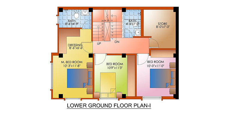 Lower Ground Floor Plan I